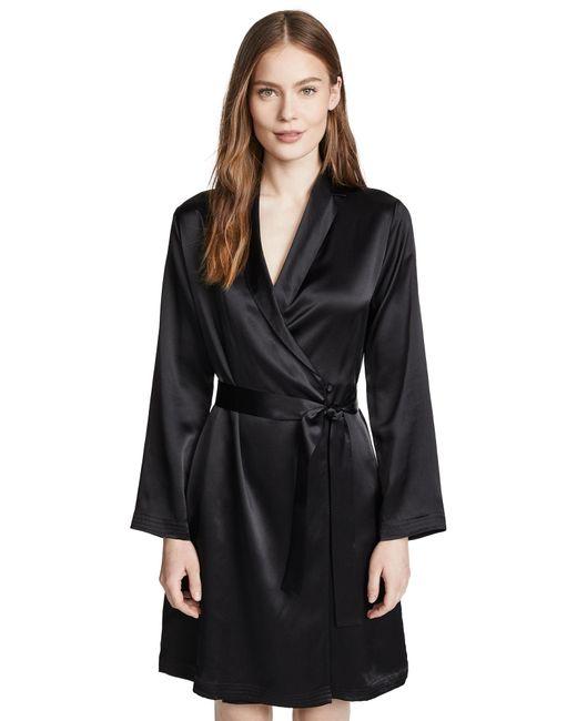 La Perla Pink Silk Black Silk Short Robe