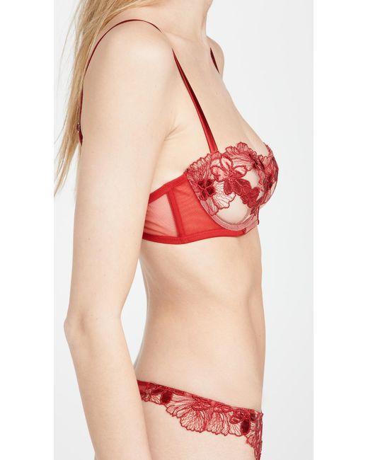 Fleur du Mal Red Violet Balconette Bra