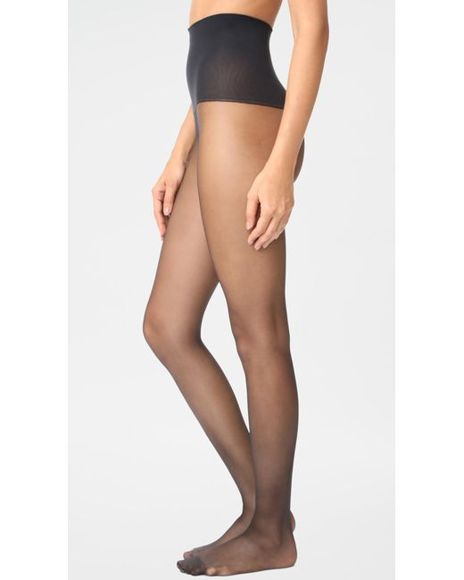 Spanx - Black Tummy Shaping Sheer Tights - Lyst