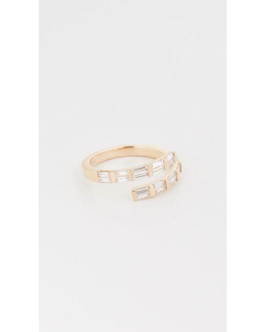 SHAY Metallic Dual Spiral Baguette Ring