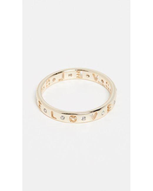 Shashi Metallic Love Ring