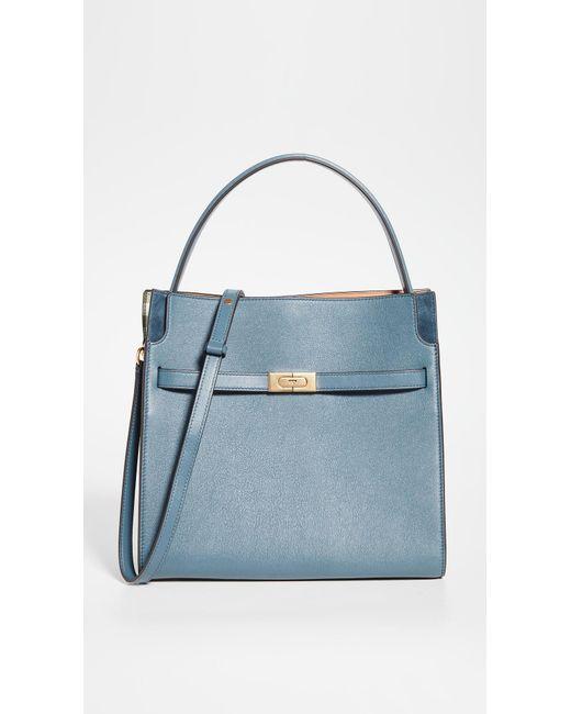 Tory Burch Blue Lee Radziwill Double Bag