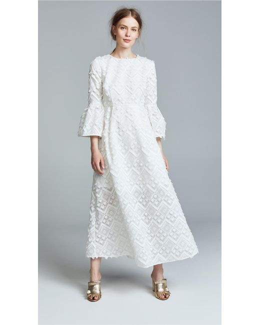 Cynthia Rowley - White Romy Lace Bell Sleeve Dress - Lyst