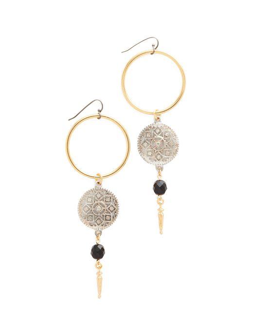 Ben-Amun   Metallic Open Circle Drop Earrings   Lyst