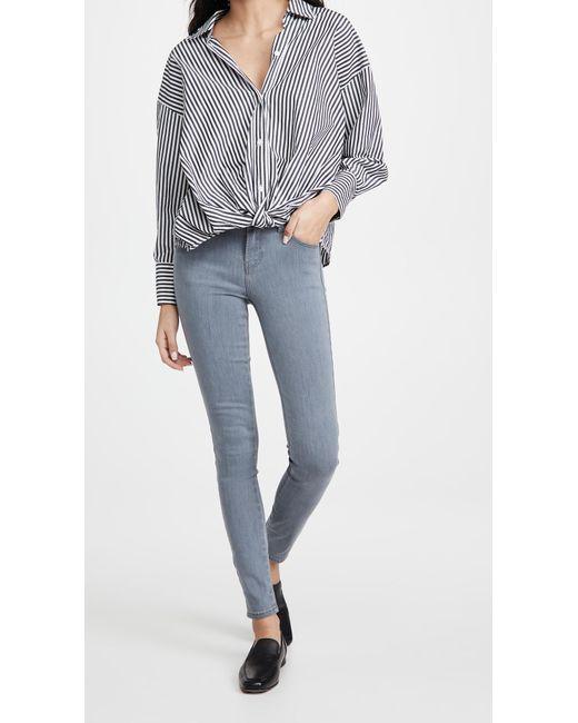 J Brand Blue Sophia Mid Rise Super Skinny Jeans
