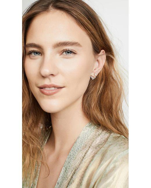 Shashi Metallic Marquis Ear Jacket Earrings