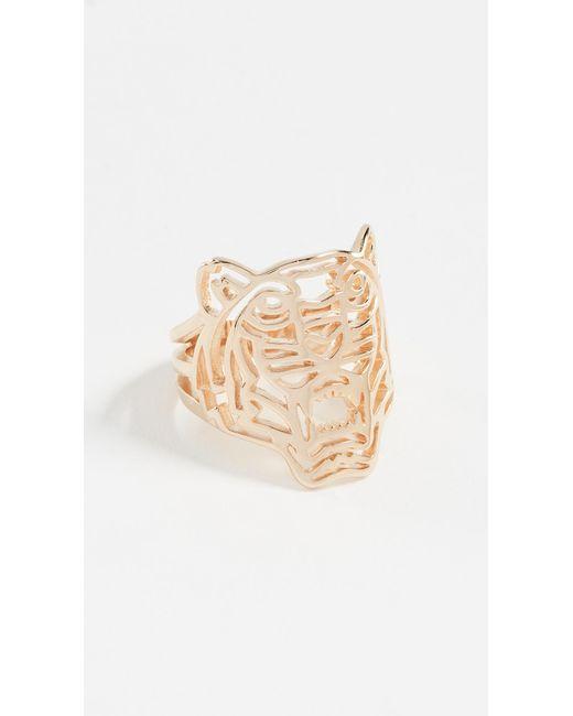 KENZO   Metallic Tiger Ring   Lyst