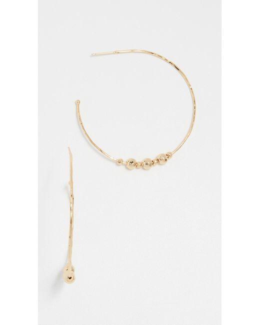 Gorjana - Metallic Taner Beaded Hoop Earrings - Lyst