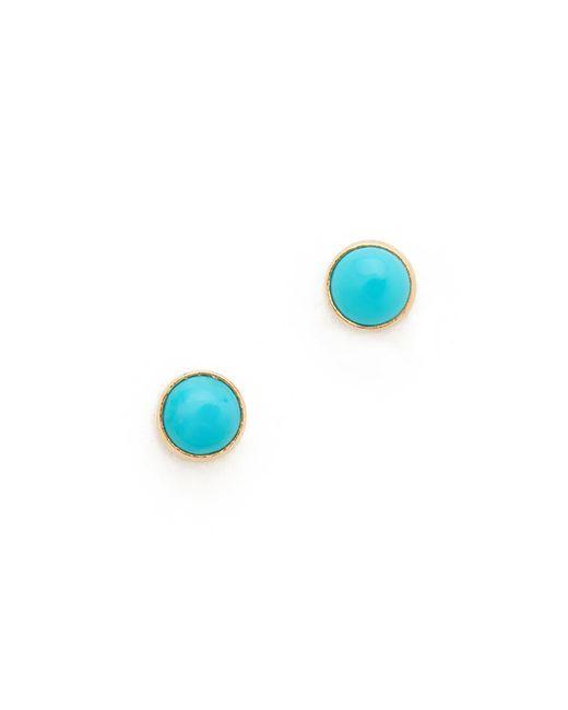 Zoe Chicco | Multicolor Turquoise Gemstones Stud Earrings | Lyst