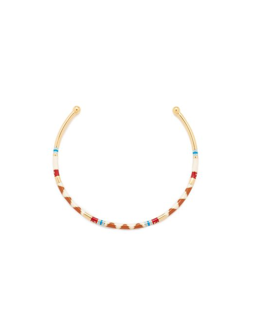 Tory Burch | Multicolor Geo Striped Collar Necklace | Lyst