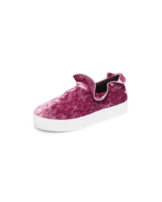Opening Ceremony | Multicolor Cici Velvet Ruffle Slip On Sneakers | Lyst