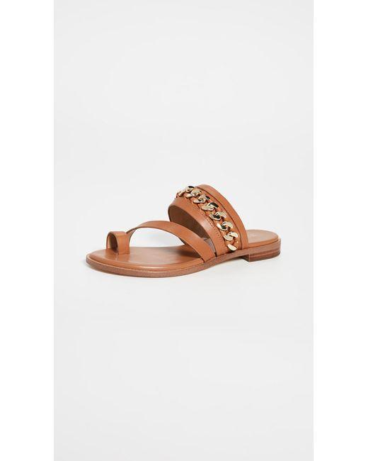 808e5729d MICHAEL Michael Kors - Brown Bergen Flat Sandals - Lyst ...
