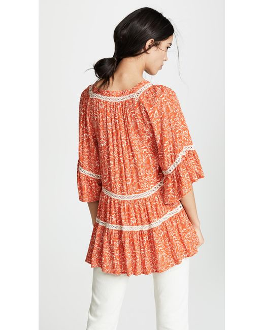 d9a0329436dce Lyst - Free People Talk About It Tunic in Orange - Save 23%