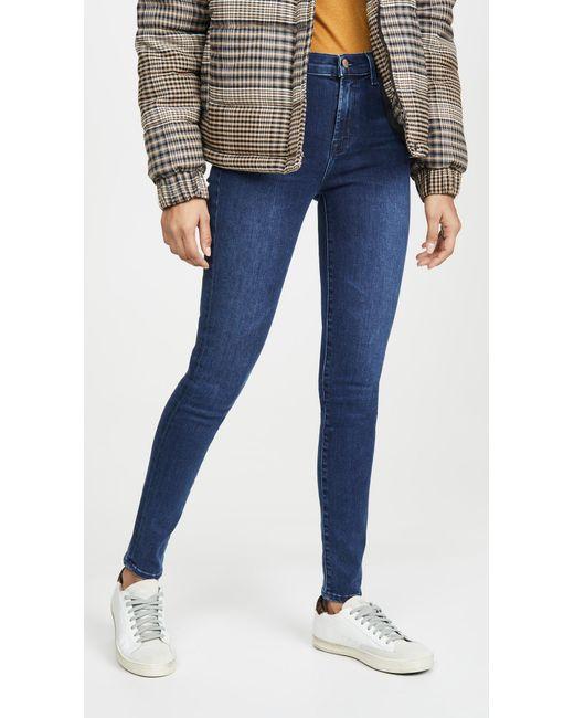 J Brand Blue Maria High Rise Skinny Jeans