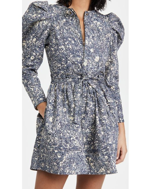 Ulla Johnson Blue Domino Dress
