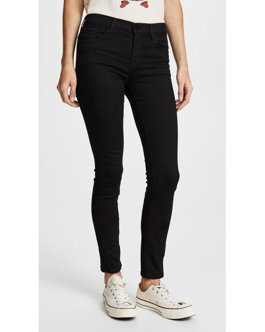 J Brand Black 811 Photo Ready Mid Rise Skinny Jeans