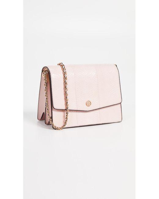 f7876df533c5 Tory Burch - Pink Robinson Exotic Convertible Shoulder Bag - Lyst ...