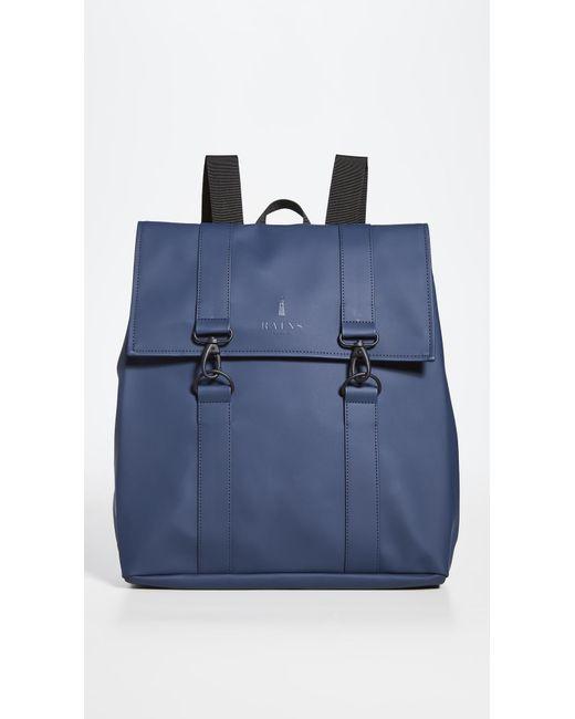 Rains Blue Msn Bag