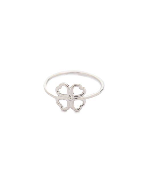Aurelie Bidermann   Metallic Mini Clover Ring   Lyst