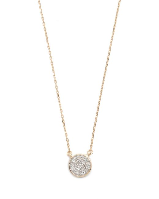 Adina Reyter | Metallic Solid Pave Disc Necklace | Lyst