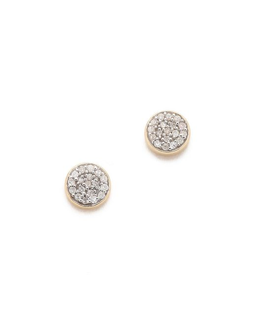Adina Reyter | Metallic Solid Pave Disc Earrings | Lyst