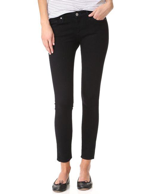 AG Jeans | Blue Contour 360 Ankle Super Skinny Jeans | Lyst