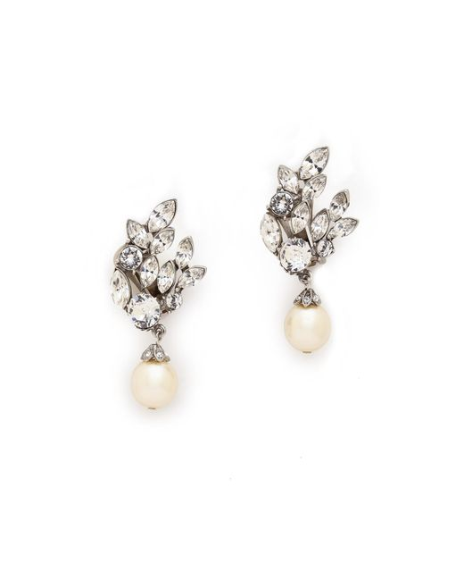 Ben-Amun | Metallic Crystal Imitation Pearl Earrings | Lyst