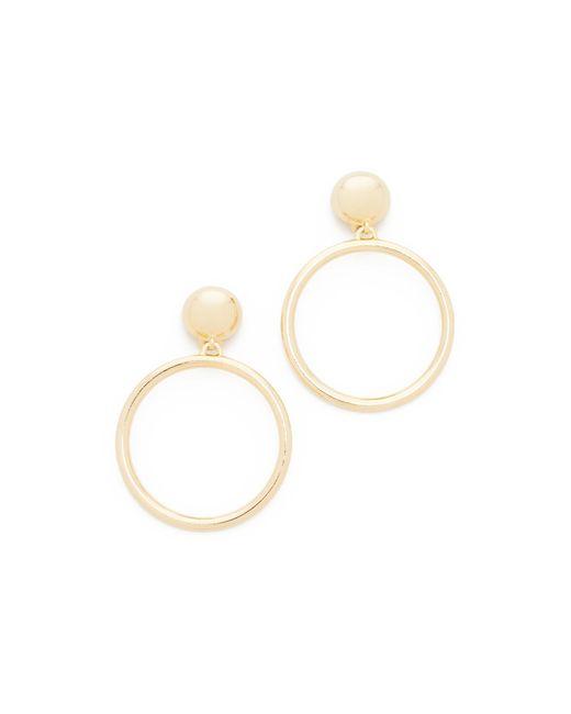 Ben-Amun | Metallic Large Circle Clip On Earrings | Lyst