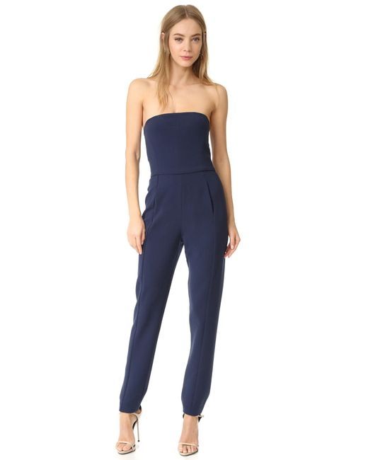 Black Halo | Blue Iris Strapless Jumpsuit | Lyst