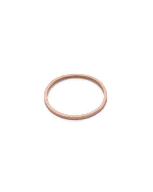 Blanca Monros Gomez | Pink Thin Stacking Band Ring | Lyst