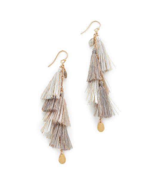 Chan Luu | Multicolor Chain Tassel Earrings | Lyst
