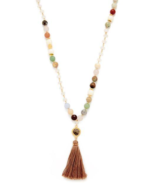 Chan Luu | Metallic Tassel Necklace | Lyst