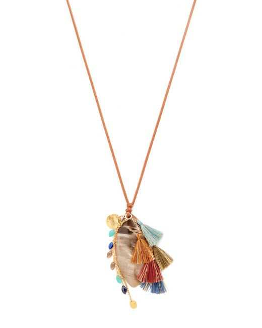 Chan Luu | Metallic Pendant Necklace | Lyst