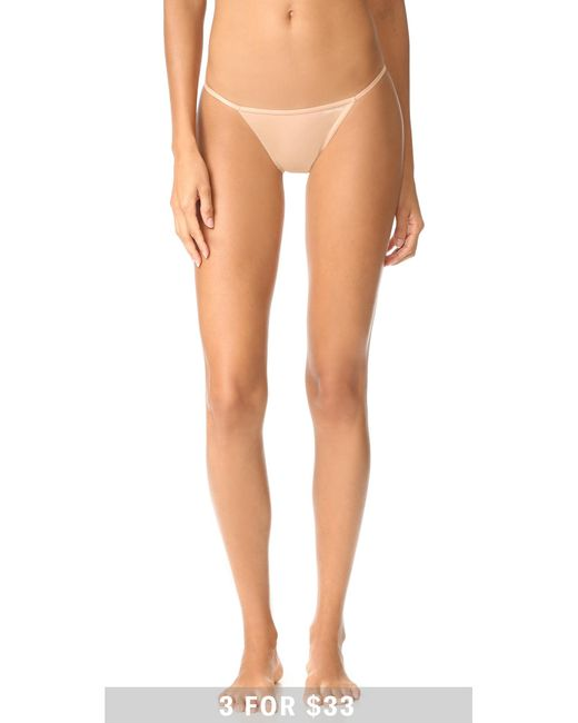 calvin klein sleek string bikini knickers lyst. Black Bedroom Furniture Sets. Home Design Ideas