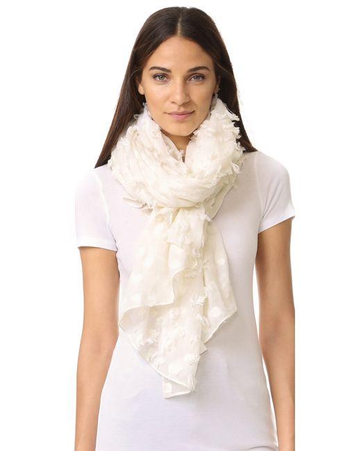 club monaco kloeah clip dot scarf in multicolour lyst