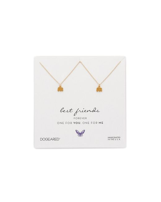 Dogeared | Metallic Best Friends Little Elephant Charm Necklace Set | Lyst