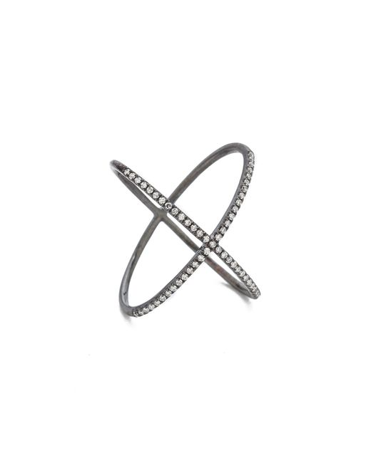 EF Collection | Gray Diamond X Ring | Lyst