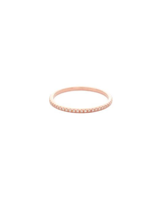 EF Collection | Pink Diamond Eternity Stack Ring | Lyst
