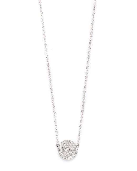 EF Collection | White Diamond Disc Necklace | Lyst
