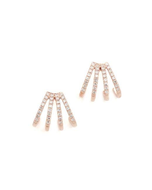 EF Collection   Multicolor Multi Diamond Huggie Earrings   Lyst