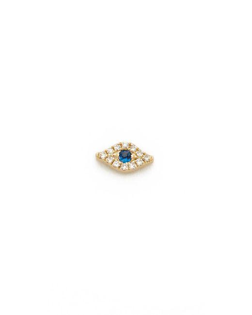 EF Collection   Metallic Mini Diamond Evil Eye Single Stud Earring   Lyst