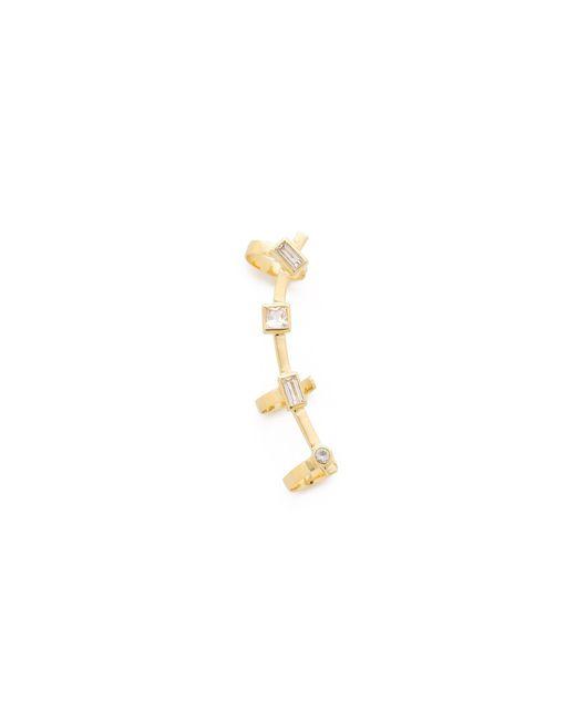 Elizabeth and James   Metallic Riley Ear Crawler - Gold   Lyst