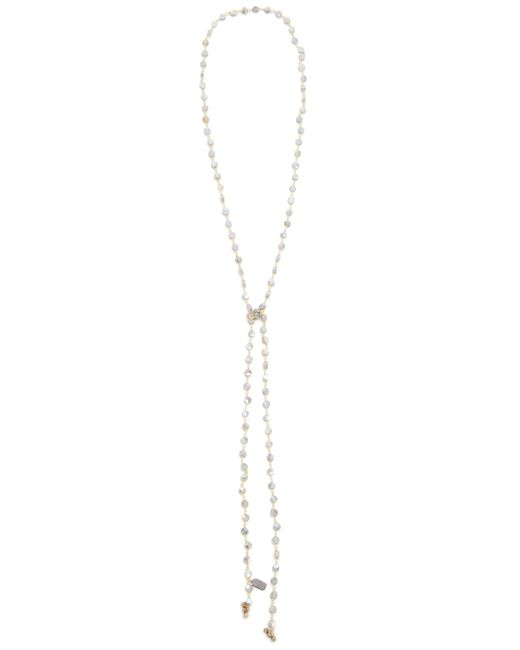 Ela Rae | Metallic Labradorite Coin Lariat Necklace | Lyst
