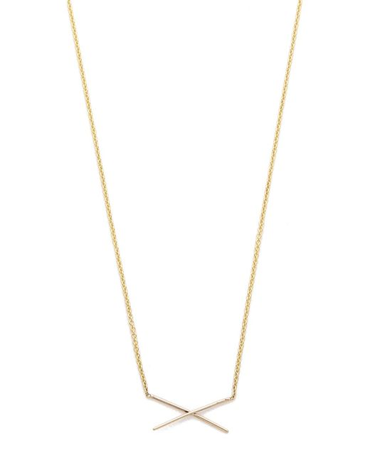 Gabriela Artigas | Metallic X Necklace | Lyst