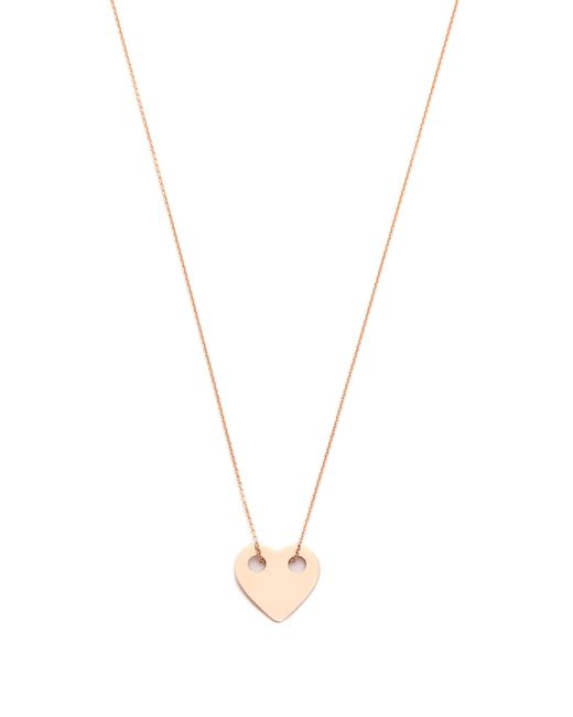 Ginette NY | Pink Mini Heart Necklace | Lyst