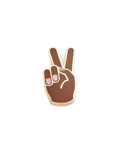 Georgia Perry | Brown Peace Hand Lapel Pin | Lyst