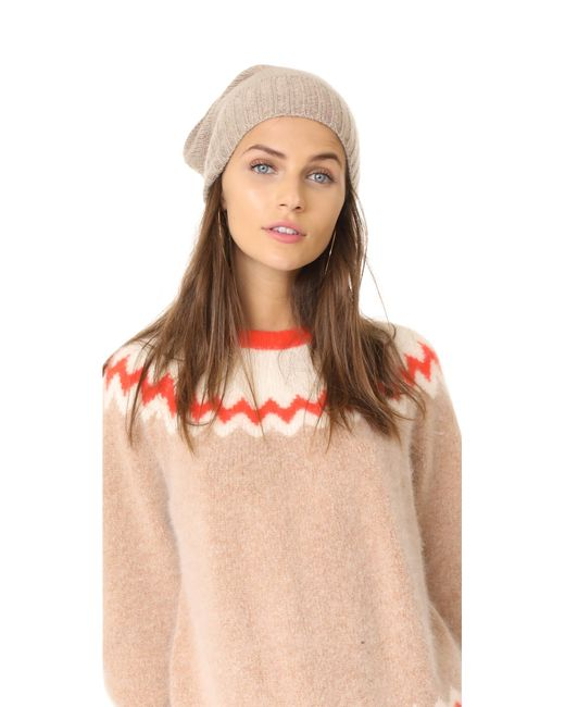 Hat Attack   Multicolor Slouchy Cashmere Hat   Lyst