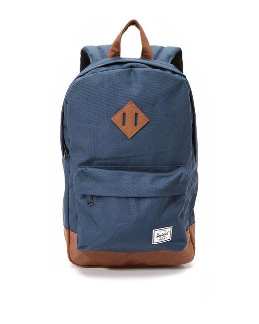 Herschel Supply Co.   Blue Heritage Mid Volume Backpack   Lyst