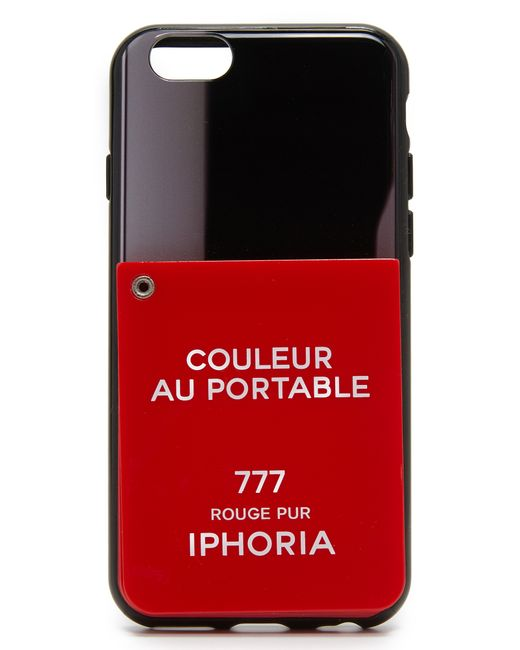 iphoria couleur au portable mirror iphone 6 6s case in red black red save 31 lyst. Black Bedroom Furniture Sets. Home Design Ideas