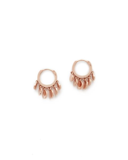 Jacquie Aiche | Pink Mini Disco Shaker Hoop Earrings | Lyst